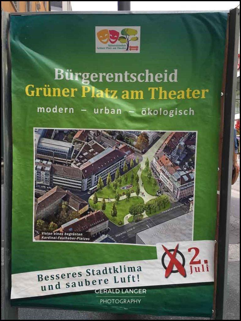 Buergerentscheid - Kardinal-Faulhaber-Platz Wuerzburg 2017
